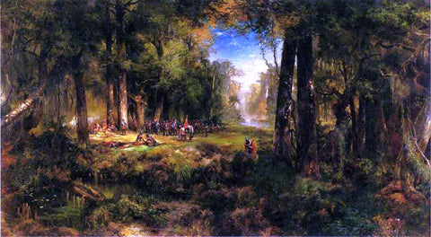 Thomas Moran Ponce de Leon in Florida - Hand Painted Oil Painting