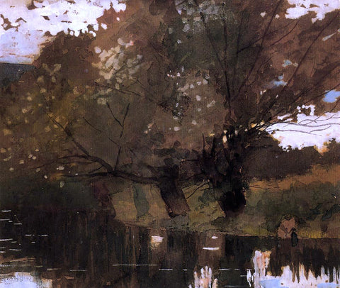 Winslow Homer Pond and Willows, Houghton Farm - Hand Painted Oil Painting