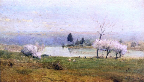 George Inness Pond at Milton on the Hudson - Hand Painted Oil Painting