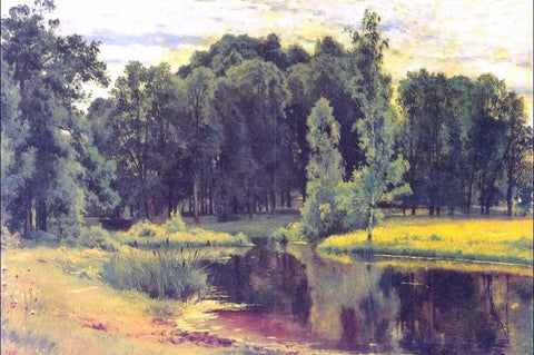 Ivan Ivanovich Shishkin Pond in an Old Park - Hand Painted Oil Painting