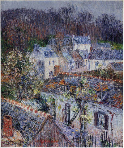 Gustave Loiseau Pont Aven - Rain - Hand Painted Oil Painting