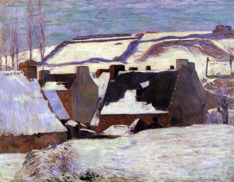 Paul Gauguin Pont-Aven in the Snow - Hand Painted Oil Painting