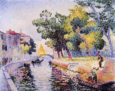Henri Edmond Cross Ponte San Trovaso - Hand Painted Oil Painting