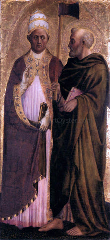 Masolino Da panicale Pope Gregory the Great and St Matthias - Hand Painted Oil Painting