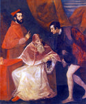 Titian Pope Paul III and his Cousins Alessandro and Ottavio Farnese - Hand Painted Oil Painting
