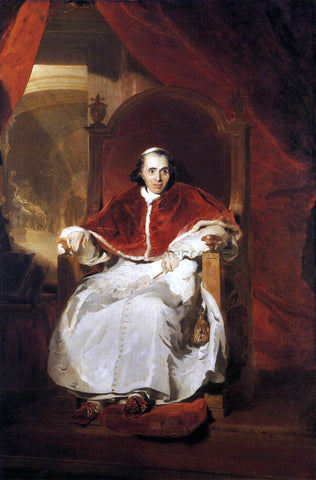 Sir Thomas Lawrence Pope Pius VII - Hand Painted Oil Painting
