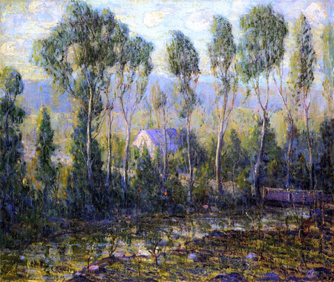 Ernest Lawson Poplars Along a River - Hand Painted Oil Painting