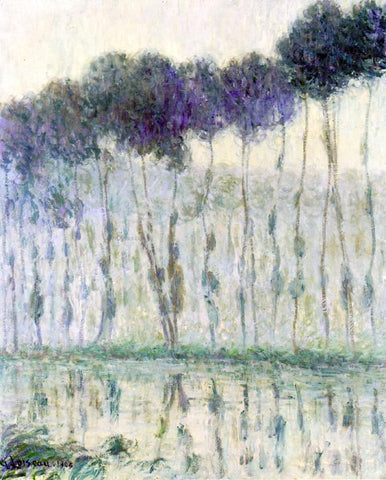 Gustave Loiseau Poplars on the Banks of the Eure - Hand Painted Oil Painting
