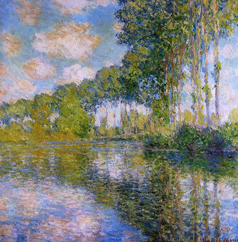 Claude Oscar Monet Poplars on the Banks of the River Epte - Hand Painted Oil Painting
