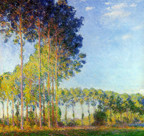 Claude Oscar Monet Poplars on the Banks of the River Epte, Seen from the Marsh - Hand Painted Oil Painting