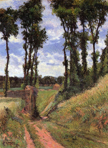 Paul Gauguin Poplars, Osny - Hand Painted Oil Painting