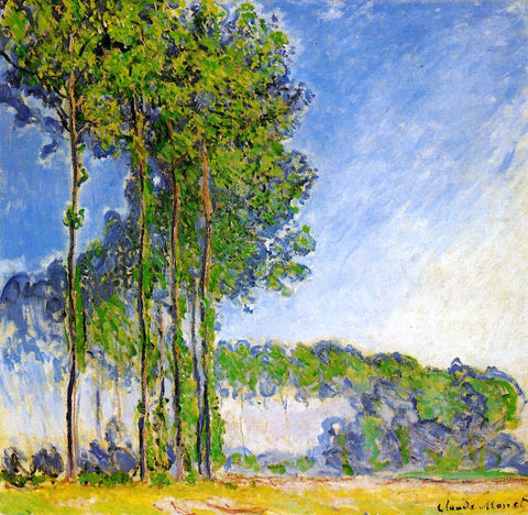 Claude Oscar Monet Poplars, View from the Marsh - Hand Painted Oil Painting