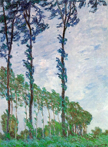 Claude Oscar Monet Poplars, Wind Effect - Hand Painted Oil Painting