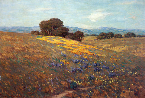 Granville Redmond Poppies and Lupines - Hand Painted Oil Painting