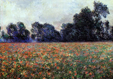 Claude Oscar Monet Poppies at Giverny - Hand Painted Oil Painting