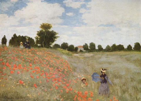 Claude Oscar Monet Poppies Blooming - Hand Painted Oil Painting
