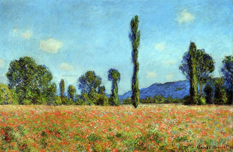 Claude Oscar Monet Poppy Field - Hand Painted Oil Painting