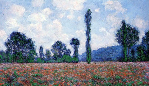 Claude Oscar Monet Poppy Field, Giverny - Hand Painted Oil Painting