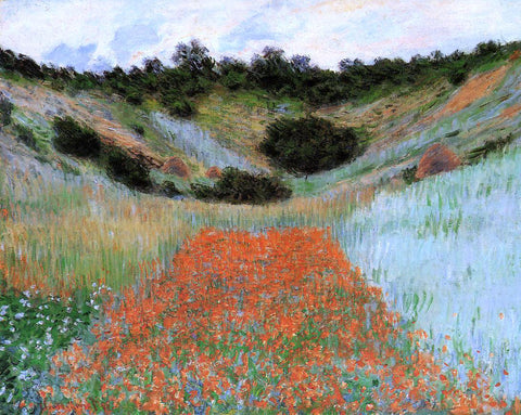 Claude Oscar Monet A Poppy Field in a Hollow near Giverny - Hand Painted Oil Painting