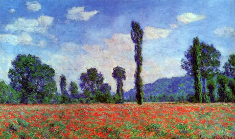 Claude Oscar Monet Poppy Field in Giverny - Hand Painted Oil Painting