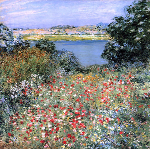 Willard Leroy Metcalf A Poppy Garden - Hand Painted Oil Painting