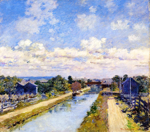 Theodore Robinson Port Ben, Delaware and Hudson Canal - Hand Painted Oil Painting