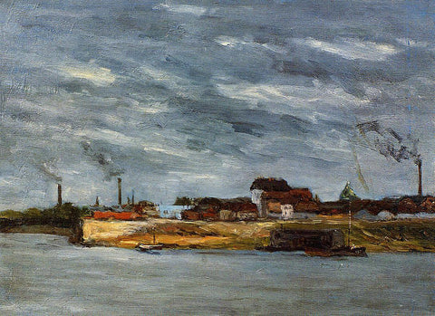 Paul Gauguin Port de Javel - Hand Painted Oil Painting
