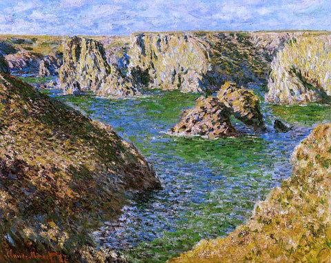 Claude Oscar Monet Port Donnant, Belle Ile - Hand Painted Oil Painting