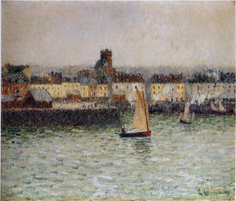 Gustave Loiseau Port of Dieppe - Hand Painted Oil Painting