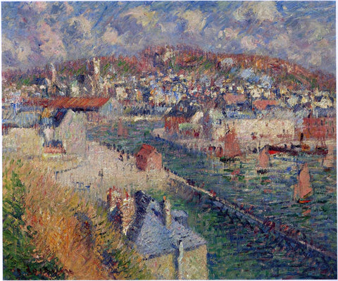 Gustave Loiseau Port of Fecamp - Hand Painted Oil Painting