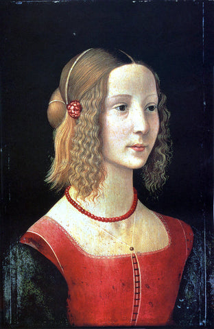 Domenico Ghirlandaio Portrait of a Girl - Hand Painted Oil Painting