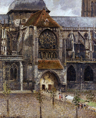 Camille Pissarro Portal from the Abbey Church of Saint-laurent - Hand Painted Oil Painting