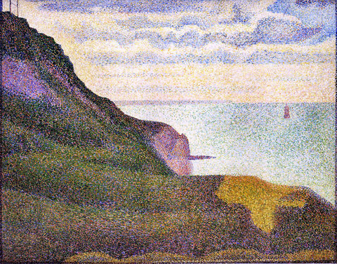 Georges Seurat Port-en-Bessin, the Semaphore and Cliffs - Hand Painted Oil Painting