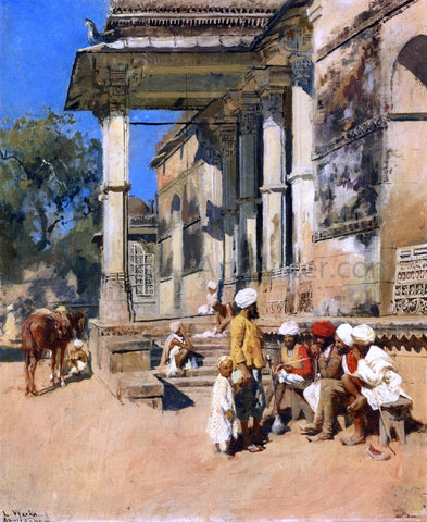 Edwin Lord Weeks Portico of a Mosque, Ahmedabad - Hand Painted Oil Painting
