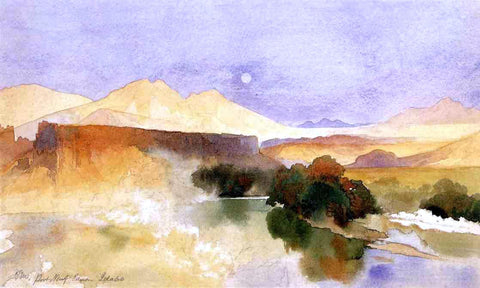 Thomas Moran Portneuf Canyon, Idaho - Hand Painted Oil Painting