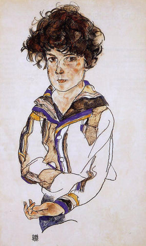 Egon Schiele Portrait of a Boy - Hand Painted Oil Painting