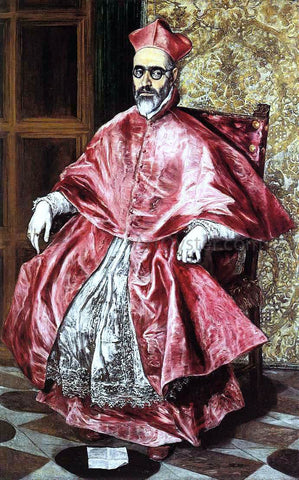 El Greco Portrait of a Cardinal - Hand Painted Oil Painting