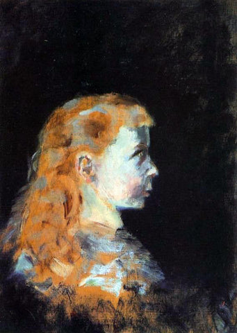 Henri De Toulouse-Lautrec Portrait of a Child - Hand Painted Oil Painting