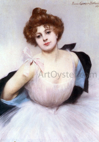 Pierre Carrier-Belleuse Portrait of a Dancer - Hand Painted Oil Painting