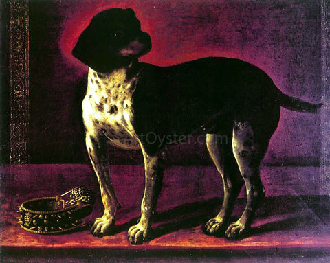 Tiberio Di Tito Portrait of a Dog - Hand Painted Oil Painting
