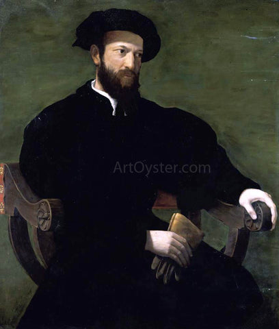 Cecchino Del Salviati Portrait of a Gentleman - Hand Painted Oil Painting