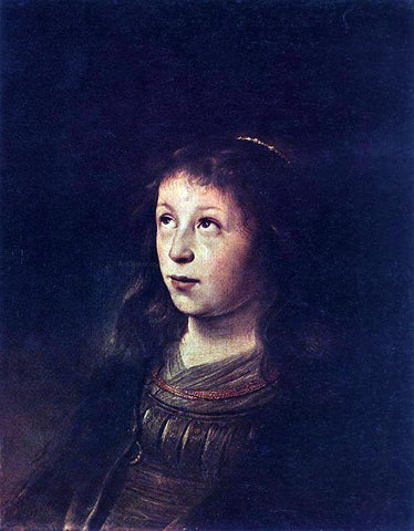 Jan Lievens Portrait of a Girl - Hand Painted Oil Painting