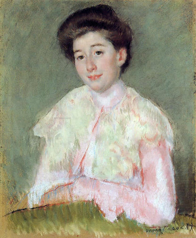 Mary Cassatt Portrait of a Lady - Hand Painted Oil Painting