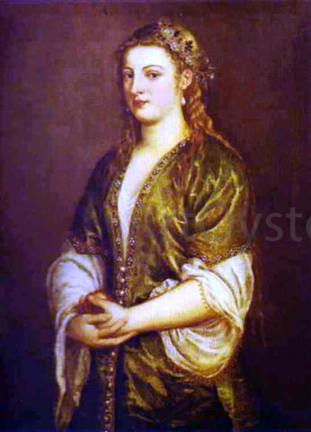 Titian Portrait of a Lady - Hand Painted Oil Painting