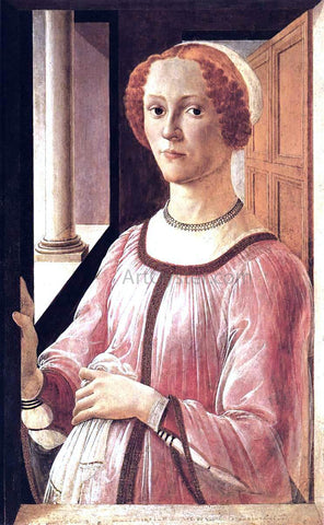 Sandro Botticelli Portrait of a Lady - Hand Painted Oil Painting