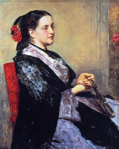Mary Cassatt Portrait of a Lady of Seville - Hand Painted Oil Painting