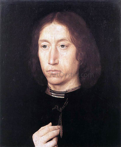 Hans Memling Portrait of a Man - Hand Painted Oil Painting