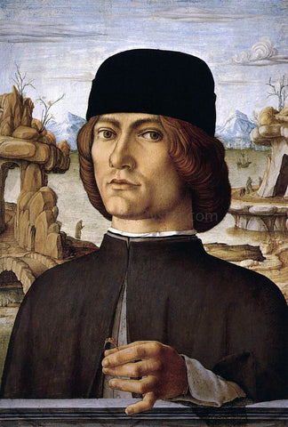 Francesco Del Cossa Portrait of a Man - Hand Painted Oil Painting