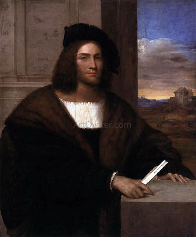 Sebastiano Del Piombo Portrait of a Man - Hand Painted Oil Painting