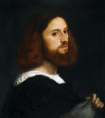 Titian Portrait of a Man - Hand Painted Oil Painting